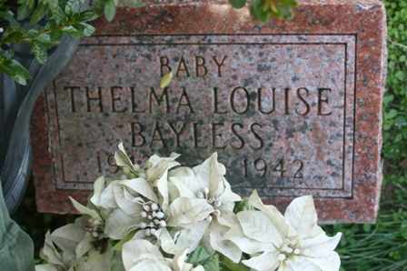 BAYLESS, THELMA LOUISE - Bledsoe County, Tennessee | THELMA LOUISE BAYLESS - Tennessee Gravestone Photos