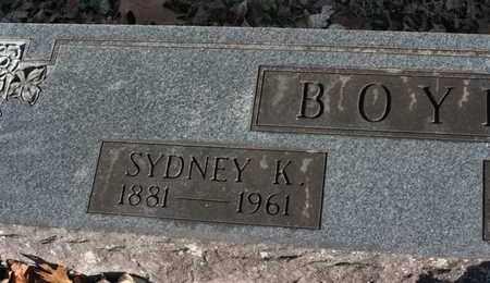 BOYD, SYDNEY K. - Bledsoe County, Tennessee   SYDNEY K. BOYD - Tennessee Gravestone Photos