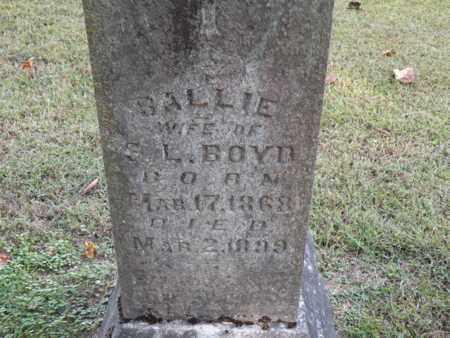 BOYD, SALLIE - Bledsoe County, Tennessee   SALLIE BOYD - Tennessee Gravestone Photos