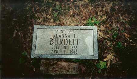 BURDETT, RUANA LOU CRETIA - Bledsoe County, Tennessee | RUANA LOU CRETIA BURDETT - Tennessee Gravestone Photos