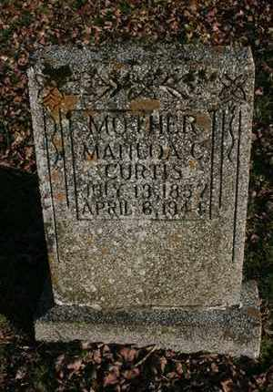 CURTIS, MATILDA C. - Bledsoe County, Tennessee   MATILDA C. CURTIS - Tennessee Gravestone Photos