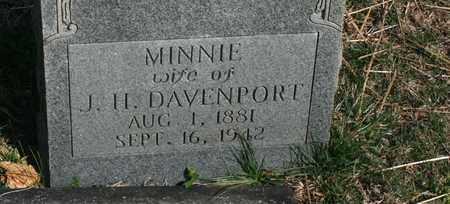 DAVENPORT, MINNIE - Bledsoe County, Tennessee | MINNIE DAVENPORT - Tennessee Gravestone Photos