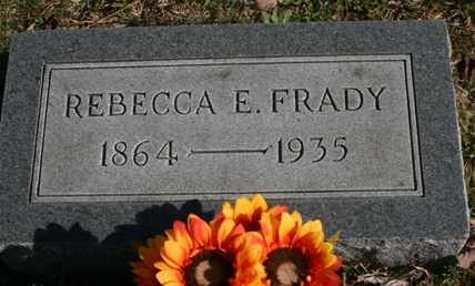 FRADY, REBECCA E. - Bledsoe County, Tennessee | REBECCA E. FRADY - Tennessee Gravestone Photos