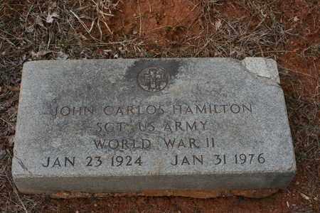 HAMILTON (VETERAN WWII), JOHN CARLOS - Bledsoe County, Tennessee   JOHN CARLOS HAMILTON (VETERAN WWII) - Tennessee Gravestone Photos