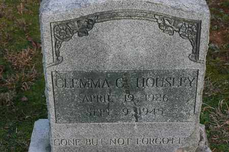 HOUSLEY, CLEMMA C. - Bledsoe County, Tennessee   CLEMMA C. HOUSLEY - Tennessee Gravestone Photos