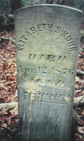 KUHN, ELIZABETH S. - Bledsoe County, Tennessee | ELIZABETH S. KUHN - Tennessee Gravestone Photos