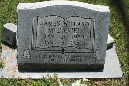 MCDANIEL, JAMES WILLARD - Bledsoe County, Tennessee | JAMES WILLARD MCDANIEL - Tennessee Gravestone Photos