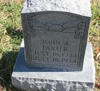 PANTER, JOHN A. - Bledsoe County, Tennessee | JOHN A. PANTER - Tennessee Gravestone Photos