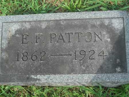 PATTON, E.F. - Bledsoe County, Tennessee | E.F. PATTON - Tennessee Gravestone Photos