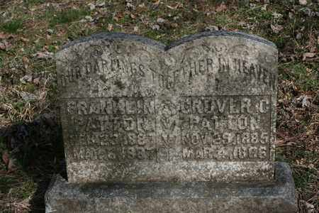 PATTON, FRANKLIN - Bledsoe County, Tennessee | FRANKLIN PATTON - Tennessee Gravestone Photos
