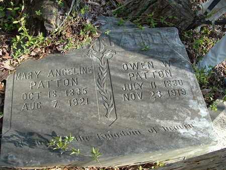 PATTON, OWEN W. - Bledsoe County, Tennessee | OWEN W. PATTON - Tennessee Gravestone Photos
