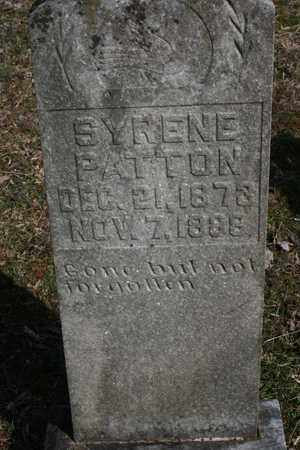 PATTON, SYRENE - Bledsoe County, Tennessee | SYRENE PATTON - Tennessee Gravestone Photos
