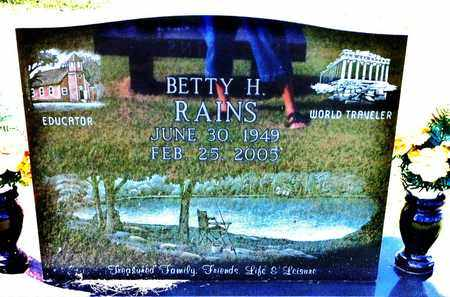 RAINS, BERRY H. - Bledsoe County, Tennessee | BERRY H. RAINS - Tennessee Gravestone Photos