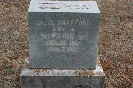 RECTOR, DECIE SWAFFORD - Bledsoe County, Tennessee | DECIE SWAFFORD RECTOR - Tennessee Gravestone Photos