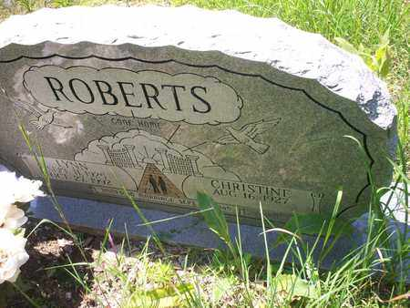 ROBERTS, CHRISTINE - Bledsoe County, Tennessee | CHRISTINE ROBERTS - Tennessee Gravestone Photos