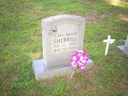 SHERRILL, CLARA WRIGHT - Bledsoe County, Tennessee | CLARA WRIGHT SHERRILL - Tennessee Gravestone Photos