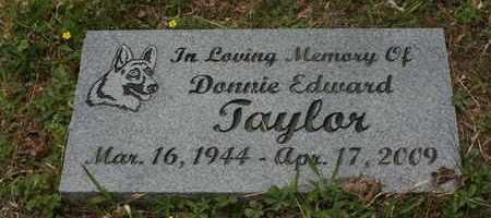 TAYLOR, DONNIE EDWARD - Bledsoe County, Tennessee   DONNIE EDWARD TAYLOR - Tennessee Gravestone Photos