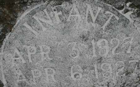 UNKNOWN, INFANT - Bledsoe County, Tennessee | INFANT UNKNOWN - Tennessee Gravestone Photos