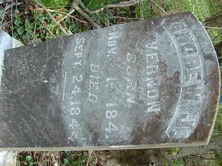 VERNON, ANDREW J. - Bledsoe County, Tennessee   ANDREW J. VERNON - Tennessee Gravestone Photos