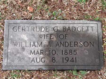 ANDERSON, GERTRUDE G. - Blount County, Tennessee | GERTRUDE G. ANDERSON - Tennessee Gravestone Photos