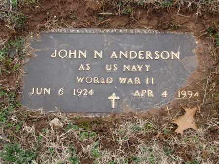 ANDERSON  (VETERAN WWII), JOHN N. - Blount County, Tennessee   JOHN N. ANDERSON  (VETERAN WWII) - Tennessee Gravestone Photos