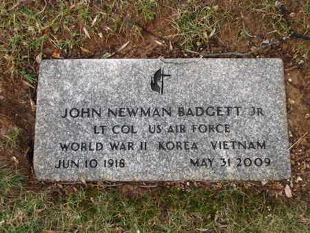 BADGETT JR (VETERAN 3 WARS), JOHN NEWMAN - Blount County, Tennessee | JOHN NEWMAN BADGETT JR (VETERAN 3 WARS) - Tennessee Gravestone Photos