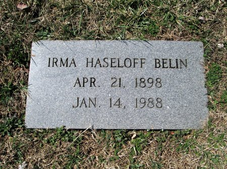 BELIN, IRMA - Blount County, Tennessee | IRMA BELIN - Tennessee Gravestone Photos