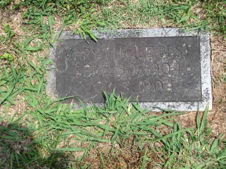 BEST, MARY LUCILE - Blount County, Tennessee | MARY LUCILE BEST - Tennessee Gravestone Photos