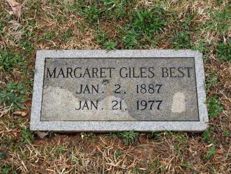 GILES BEST, MARGARET - Blount County, Tennessee | MARGARET GILES BEST - Tennessee Gravestone Photos