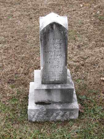 BEST, MARY E. - Blount County, Tennessee   MARY E. BEST - Tennessee Gravestone Photos