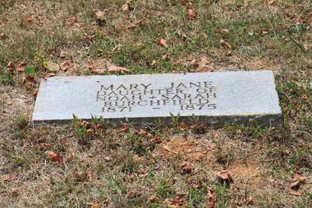 BURCHFIELD, MARY JANE - Blount County, Tennessee | MARY JANE BURCHFIELD - Tennessee Gravestone Photos