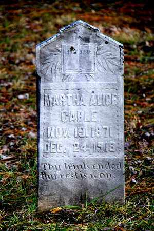 CABLE, MARTHA ALICE - Blount County, Tennessee | MARTHA ALICE CABLE - Tennessee Gravestone Photos