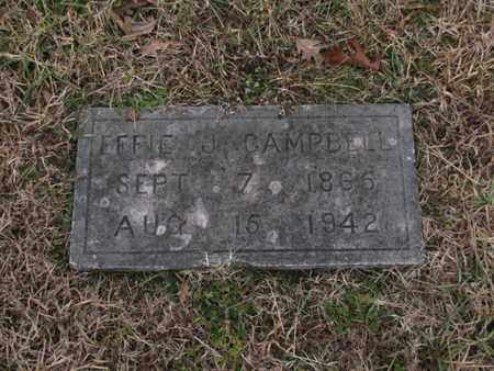 CAMPBELL, EFFIE J - Blount County, Tennessee | EFFIE J CAMPBELL - Tennessee Gravestone Photos