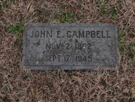CAMPBELL, JOHN E - Blount County, Tennessee   JOHN E CAMPBELL - Tennessee Gravestone Photos