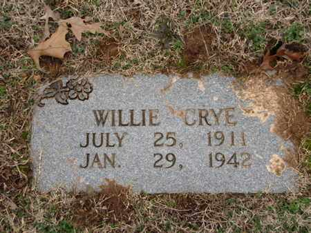 CRYE, WILLIE - Blount County, Tennessee | WILLIE CRYE - Tennessee Gravestone Photos
