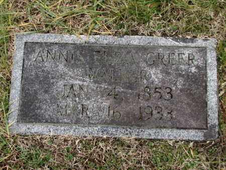 GREER, ANNIS ELIZA - Blount County, Tennessee | ANNIS ELIZA GREER - Tennessee Gravestone Photos