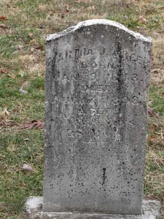 GREER, MARTHA J - Blount County, Tennessee | MARTHA J GREER - Tennessee Gravestone Photos