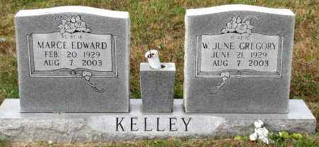 GREGORY KELLEY, W. JUNE - Blount County, Tennessee | W. JUNE GREGORY KELLEY - Tennessee Gravestone Photos