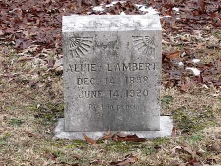 LAMBERT, ALLIE - Blount County, Tennessee | ALLIE LAMBERT - Tennessee Gravestone Photos