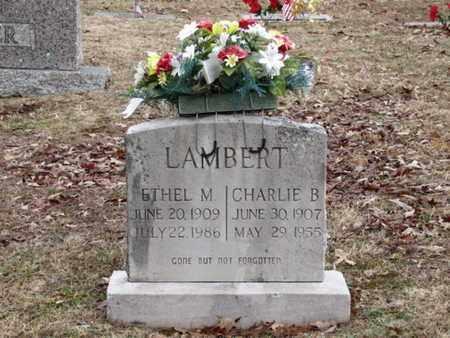 LAMBERT, CHARLIE B. - Blount County, Tennessee   CHARLIE B. LAMBERT - Tennessee Gravestone Photos