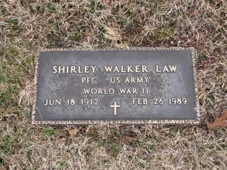 LAW  (VETERAN WWII), SHIRLEY WALKER - Blount County, Tennessee | SHIRLEY WALKER LAW  (VETERAN WWII) - Tennessee Gravestone Photos