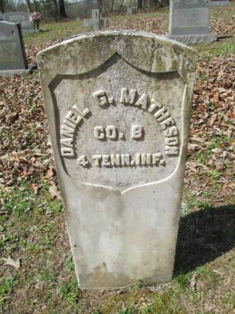 MATHESON (VETERAN), DANIEL GREEN V - Blount County, Tennessee | DANIEL GREEN V MATHESON (VETERAN) - Tennessee Gravestone Photos