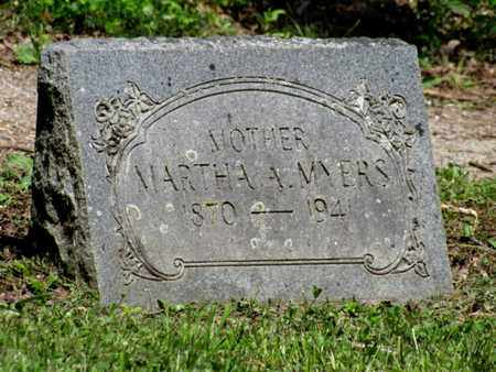 MYERS, MARTHA A. - Blount County, Tennessee | MARTHA A. MYERS - Tennessee Gravestone Photos