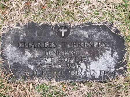 PRESLEY  (VETERAN WWII), CHARLES T - Blount County, Tennessee | CHARLES T PRESLEY  (VETERAN WWII) - Tennessee Gravestone Photos