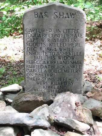 SHAW, GEORGE BAZEL (CLOSE UP) - Blount County, Tennessee | GEORGE BAZEL (CLOSE UP) SHAW - Tennessee Gravestone Photos