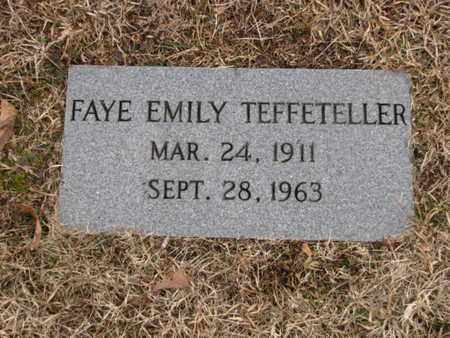 TEFFETELLER, FAYE EMILY - Blount County, Tennessee | FAYE EMILY TEFFETELLER - Tennessee Gravestone Photos