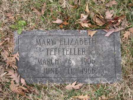 TEFFETELLER, MARY ELIZABETH - Blount County, Tennessee   MARY ELIZABETH TEFFETELLER - Tennessee Gravestone Photos