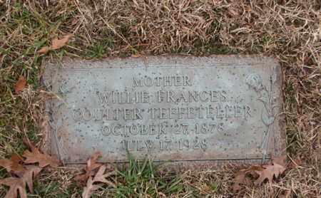 COULTER TEFFETELLER, WILLIE FRANCES - Blount County, Tennessee | WILLIE FRANCES COULTER TEFFETELLER - Tennessee Gravestone Photos