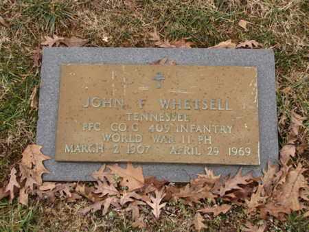 WHETSELL  (VETERAN WWII), JOHN F - Blount County, Tennessee | JOHN F WHETSELL  (VETERAN WWII) - Tennessee Gravestone Photos