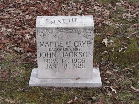 CRYE, MATTIE U. - Blount County, Tennessee | MATTIE U. CRYE - Tennessee Gravestone Photos